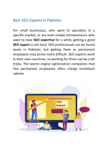 Best SEO Experts in Pakistan