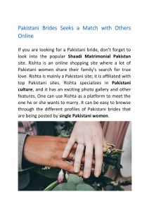 Pakistani Brides Seeks a Match with Others Online