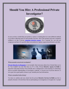 Should You Hire A Professional Private Investigator