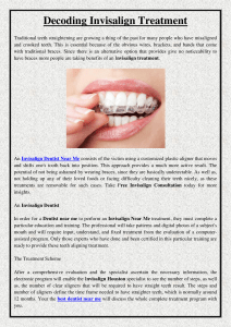 Decoding Invisalign Treatment