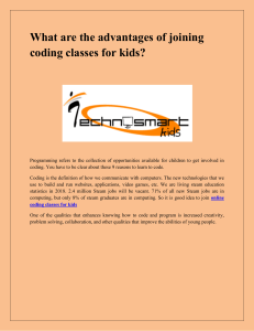 What are the advantages of joining coding classes for kids-converted