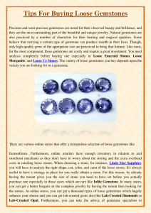 Tips For Buying Loose Gemstones