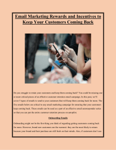Email Marketing Rewards and Incentives to Keep Your Customers Coming Back