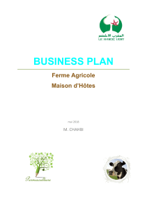 BUSINESS PLAN - Ferme Agricole et Maison