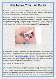 How To Deal With Gum Disease