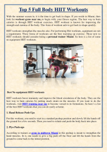 Top 5 Full Body HIIT Workouts