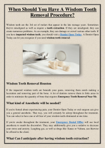When Should You Have A Wisdom Tooth Removal Procedure