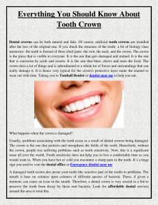 Everything You Should Know About Tooth Crown