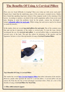 The Benefits Of Using A Cervical Pillow