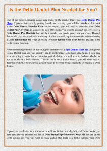 Is the Delta Dental Plan Needed for You