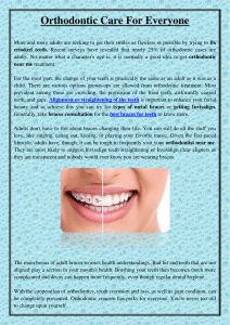 Orthodontic Care For Everyone