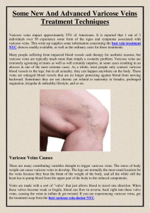 Some New And Advanced Varicose Veins Treatment Techniques