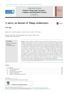 A survey on IoT architectures 2016
