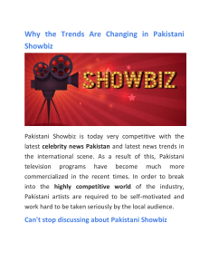 Why the Trends Are Changing in Pakistani Showbiz