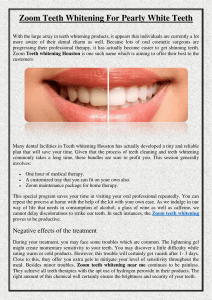 Zoom Teeth Whitening For Pearly White Teeth