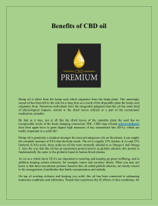 Benefits of CBD oil-converted