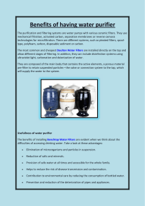 BENEFITS OF WATER PURIFIER (1)