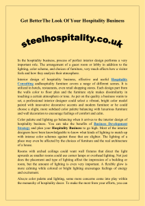 Get Better The Look Of Your Hospitality Business