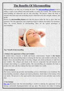 The Benefits Of Microneedling