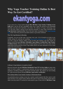 Why Yoga Teacher Training Online Is Best Way To Get Certified