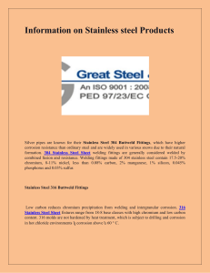 Information on Stainless steel Products-converted