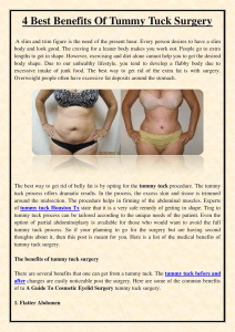 4 Best Benefits Of Tummy Tuck Surgery
