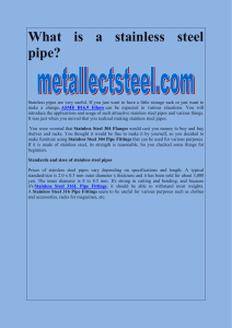 What is a stainless steel pipe-converted
