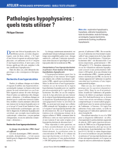 16 jndes pathologies hypophysaires tests p chanson