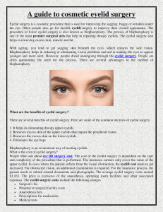 A guide to cosmetic eyelid surgery