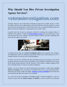 Why Should You Hire Private Investigation Agency Services-converted