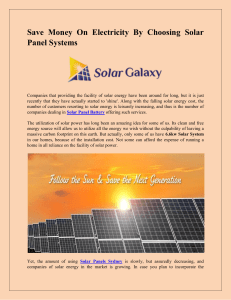 Save Money On Electricity By Choosing Solar Panel Systems-converted