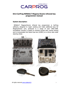 CARPROG RENAULT key programmer manual