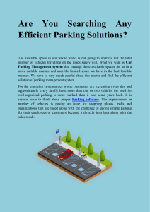 Are You Searching Any Efficient Parking Solutions