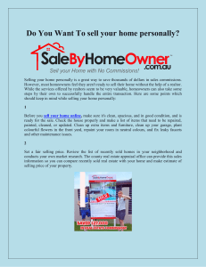 Do You Want To sell your home personally
