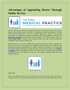 Advantages of Appointing Doctor Through Online Service-
