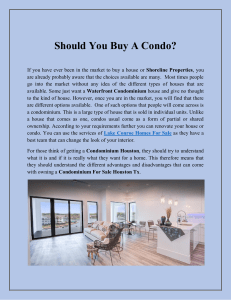 Should You Buy A Condo