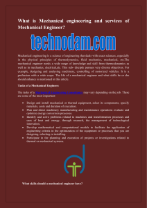What is Mechanical engineering and services of Mechanical Engineer