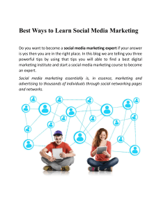 Best Ways to Learn Social Media Marketing