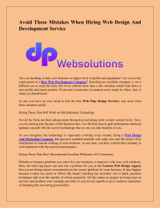 Avoid These Mistakes When Hiring Web Design And Development Service