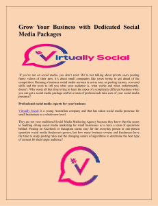 Grow Your Business with Dedicated Social Media Packages