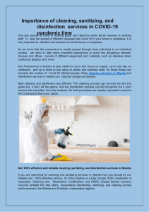 Importance of cleaning, sanitizing, and disinfection services in COVID-19 pandemic time-converted