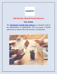 Taft-Hartley Benefit Fund Software