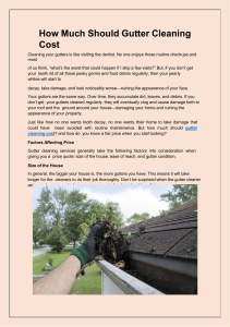 How Much Should Gutter Cleaning Cost
