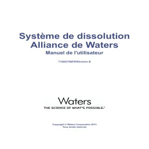 Systeme de dissolution - Waters 2695 - Module de separation FR