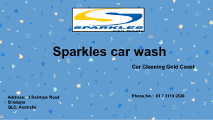 Car Cleaning Gold Coast Sparkles car wash