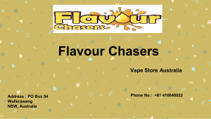 E Liquid Flavour Concentrates Flavour Chasers