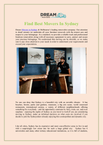 Find Best Movers In Sydney