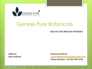 CBD Products New Zealand Genesis Pure Botanicals