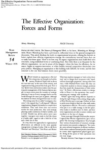 2a - Article - Mintzberg Effective Organizations Sloan 1991 - 14p
