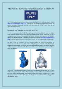 What Are The Best Globe Valve Manufacturers In The USA